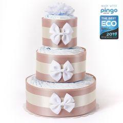 Gâteau Couches (60x) Baby Shower, Couches écologiques Pingo, Naissance Bébé Livraison Gratuite, beige