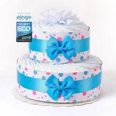 Gâteau à Pois 40 Couches écologiques Naissance Bébé, Marque Langes Pingo, Naissance Bébé Garçon Livraison Gratuite Suisse, bleu