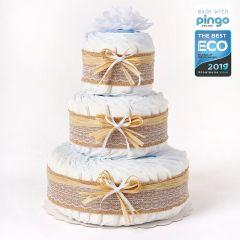 Gâteau 60 Couches écologiques Naissance Bébé, Marque Langes Pingo, Naissance Bébé Livraison Gratuite, nature