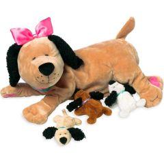 Peluche ultra douce, Chien avec ses petits, Manhattan Toys, Idée Cadeau Fille 3 ans