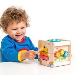 Cube En Bois d'activités, Idée Cadeau Premier Age, dès 2 ans, Le Toy Van