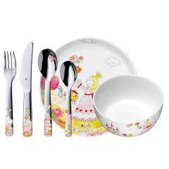 Couverts Vaisselle avec Gravure pour Petite Fille, Princesse Anneli WMF, Idée Cadeau avec Prénom Enfant
