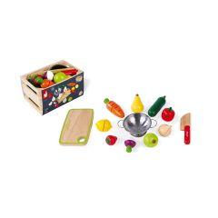 Cagette Fruits et légumes en bois à découper, de 3 à 8 ans, Janod