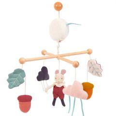 Mobile Bébé avec musique, Petite Souris Moulin Roty, Livraison Gratuite