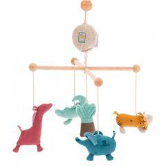 Mobile Bébé avec musique, Animaux Jungle Moulin Roty, Livraison Gratuite