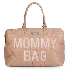 grand sac à langer mommy bag beige matelassé