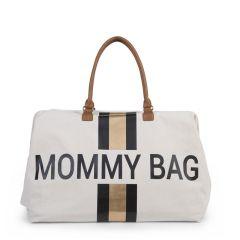 Sac à langer Mommy Bag Crème Rayé Noir et Doré, Idée Cadeau Maman, Livraison Gratuite Suisse, Childhome