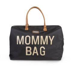 Sac à langer Mommy Bag noir et doré, Idée Cadeau Maman ou Future Maman Childhome