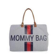 Sac à langer Mommy Bag Gris Rayures, Idée Cadeau Maman Childhome