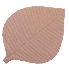 Tapis de Jeu coton biologique certifié GOTS Toddlekind, Leaf Sea Shell rose