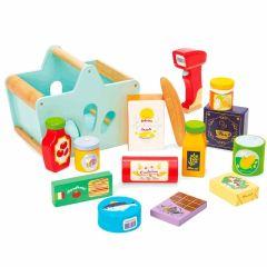 Panier Courses Supermarché Le Toy Van, Jouet Bois, Garçon ou Fille dès 2 ans, Boutique Suisse