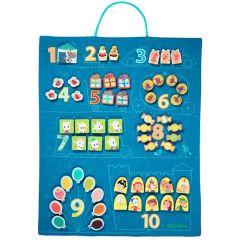 Grand Panneau pour apprendre à compter, pour les enfants dès 3 ans, Jeu éducatif, Lilliputiens