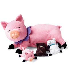 Peluche ultra douce, Cochon avec ses petits, Manhattan Toys, Idée Cadeau Fille 3 ans