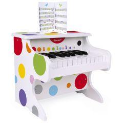 Piano Electronique avec partitions pour Enfant dès 3 ans Confetti Janod
