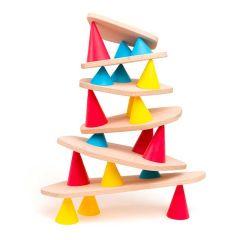Jeu pédagogique Piks Small 24 pièces, Jouet Construction et Equilibre dès 3 ans