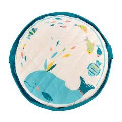 Tapis de jeu Soft et Sac de rangement de jouets Olga Play & Go, 120 cm diamètre