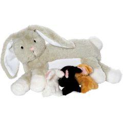 Peluche ultra douce, Lapin avec ses petits, Manhattan Toys, Idée Cadeau Pâques