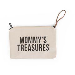 Sac Pochette Mommy's Treasures blanc Idée Cadeau Maman Childhome