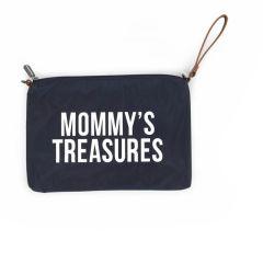 Sac Pochette Mommy's Treasures bleu marine Idée Cadeau Maman Childhome