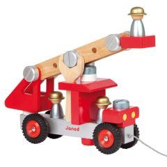Jouet Camion de pompier en bois dès 2 ans Janod
