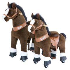 Cheval à roulettes Garantie 2 ans Pony Cycle chocolat, Livraison Gratuite