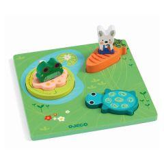 Puzzle en bois Premier Age, dès 12 mois Froggy, Djeco