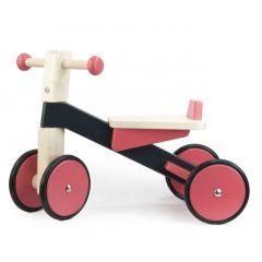 Porteur en bois rose, cadeau dès 1 an, Idée Cadeau Premier Anniversaire Bébé Fille, Livraison Gratuite, Bajo