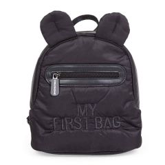 sac à dos my first bag, noir matelassé, sac enfant fashion