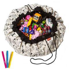 Sac à Lego à colorier, Color my bag by Omy, 140 cm Play & Go
