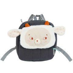 Sac à dos Mouton, avec prénom de Bébé, Collection Moulin Roty