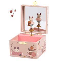 Boîte à musique Moulin Roty, Coffret à bijoux Chat, Cadeau Fille 2 ans