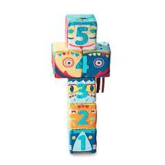 Set de 6 cubes Totem, Jouet en tissu Premier Age, Lilluputiens