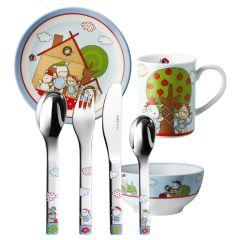 Vaisselle et Services Enfant, Couverts à graver La Ferme, 7 pièces Puresigns