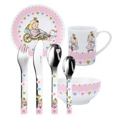 Vaisselle et Services Fille, Couverts à graver Princesses, 7 pièces Puresigns