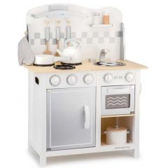 Cuisine Deluxe avec Accessoires, Cadeau Enfant 3 ans, New Classic Toys, blanc gris, Livraison Gratuite