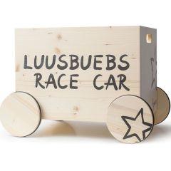 Caisse à jouets avec roulettes Race Car, 100% suisse, Déco Chambre enfant, Kynee, Livraison Gratuite