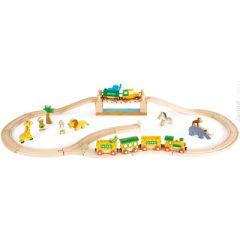 Circuit de Train Jouet en bois, Story Express Safari Janod