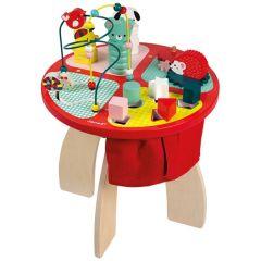 Table d'activités Jouet en bois, Gros Cadeau Enfant 1 an Baby Forest Janod, Magasin Suisse