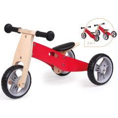 Spielba Tricycle évolutif en bois rouge, Livraison Gratuite, Boutique en Ligne Suisse.