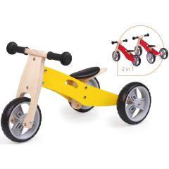 Spielba Tricycle évolutif en bois jaune, Livraison Gratuite, Boutique en Ligne Suisse.