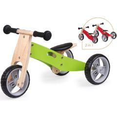 Spielba Tricycle évolutif en bois vert, Livraison Gratuite, Boutique en Ligne Suisse.