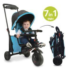 Tricycle évolutif 7 en 1pour bébé, Smart trike 500 dès 9 mois, SmarTrike bleu
