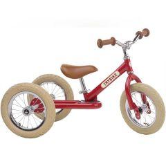 Tricycle Trybike Vintage en acier, dès 15 mois, qui se transforme en draisienne 2 roues 12 pouces, rouge