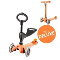 Trottinette 3 en 1 Deluxe avec siège, Livraison Gratuite, Micro orange