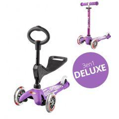 Trottinette 3 en 1 Deluxe avec siège, Livraison Gratuite, Micro violet