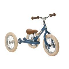 Tricycle Trybike Draisienne Evolutive Garçon ou Fille Vintage dès 15 mois, 12 pouces, bleu