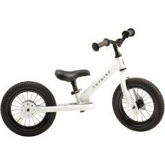 Draisienne Trybike Metal pour Enfant, sans pédales, 2 ou 3 roues, 12 pouces, blanc