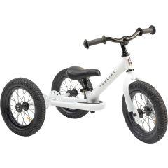 Tricycle Trybike Vintage en acier blanc, dès 15 mois, qui se transforme en draisienne 2 roues 12 pouces