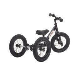 Tricycle Trybike Vintage en acier, dès 15 mois, qui se transforme en draisienne 2 roues 12 pouces, noir