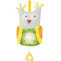 Veilleuse Bébé et Peluche musicale, hibou Taf Toys